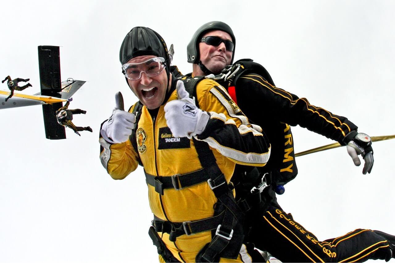 Fallschirm springen an deinem perfekten Tag? - lieber nicht - Ziele im Leben